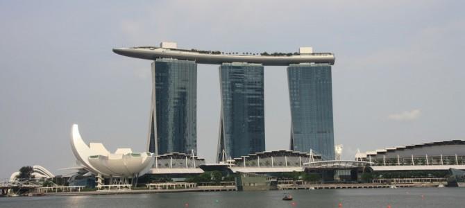 Ankunft in Singapur